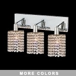 "Hollywood Design 3-Light 15"" Round Wall Sconce Rectangular Bath Bar Dressed with  30% Lead or Swarovski Spectra Crystal SKU# 11479"