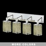 "Hollywood Design 4-Light 26"" Oval Wall Sconce Rectangular Bath Bar Dressed with  30% Lead or Swarovski Spectra Crystal SKU# 11481"