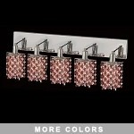 "Hollywood Design 5-Light 34"" Star Wall Sconce Rectangular Bath Bar Dressed with  30% Lead or Swarovski Spectra Crystal SKU# 13094"