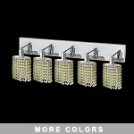 "Hollywood Design 5-Light 34"" Oval Wall Sconce Rectangular Bath Bar Dressed with  30% Lead or Swarovski Spectra Crystal SKU# 13095"
