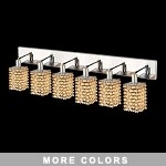 "Hollywood Design 6-Light 40"" Square Wall Sconce Rectangular Bath Bar Dressed with  30% Lead or Swarovski Spectra Crystal SKU# 13098"