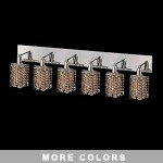 "Hollywood Design 6-Light 40"" Star Wall Sconce Rectangular Bath Bar Dressed with  30% Lead or Swarovski Spectra Crystal SKU# 13100"