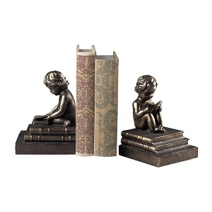 Study Time Bookends Bronze 93-10059/S2
