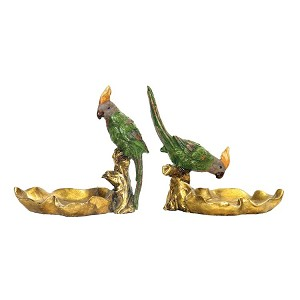Tropical Dishes Statues (Set Of 2) 93-4180