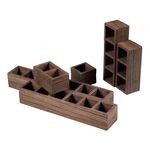 Wooden Post Office Sorting Shelves 116-008
