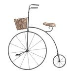 Bicycle Black Iron And Wicker Wall Art 125-039