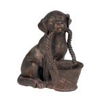 Pooch With Basket Statue 87-1662