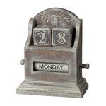 Washed Wood Date Keeper 89-8011