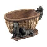 Puppies In Basket Newtown Keep Sake Dish 93-10039