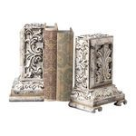 Carbed Bookends In White With Gold Highlight 93-10055/S2