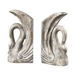 Swan Restoration Grey Bookends 93-10058/S2
