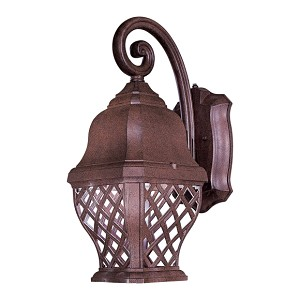 "Arbor Hill Dark Sky Collection 1-Light 18"" Antique Bronze Energy Efficient Outdoor Wall Lantern 8011-91-PL"