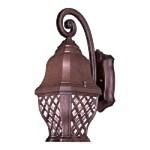 "Arbor Hill Dark Sky Collection 1-Light 14"" Antique Bronze Energy Efficient Outdoor Wall Lantern 8012-91-PL"