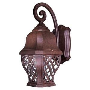 "Arbor Hill Dark Sky Collection 1-Light 23"" Antique Bronze Energy Efficient Outdoor Wall Lantern 8013-91-PL"
