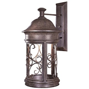 "Sage Ridge Dark Sky Collection 1-Light 22"" Vintage Rust Outdoor Wall Lantern 8283-A61"
