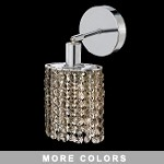 "Hollywood Design 1-Light 6"" Oval Wall Sconce  30% Lead or Swarovski Spectra Crystal SKU# 11327"