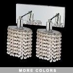 "Hollywood Design 2-Light 8"" Oval Wall Sconce  30% Lead or Swarovski Spectra Crystal SKU# 11340"