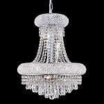 Bagel Design 8-Light 20'' Chrome or Gold Mini Chandelier Dressed with European or Swarovski Crystals SKU# 10146