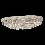 Bagel Design 24-Light 40'' Chrome or Gold Oval Ceiling Flush Mount Dressed with European or Swarovski Crystals SKU# 10163