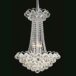 Atlantis Design 9-Light 23'' Chrome or Gold Mini Chandelier Dressed with European or Swarovski Spectra Crystal Strands SKU# 10221