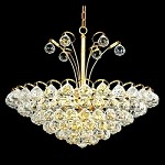 Atlantis Design 8-Light 20'' Gold or Chrome Mini Chandelier Dressed with European or Swarovski Crystals SKU# 10224