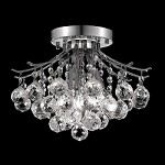 "Contour Collection 3-Light 12"" Chrome or Gold Flush Mount with Clear European Or Swarovski Crystals"