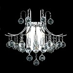"Contour Design 3-Light 16"" Gold or Chrome Wall Sconce with European or Swarovski Crystals SKU# 11107"