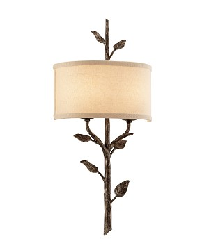 "Almont Collection 2-Light 12"" Bronze Leaf Wall Sconce B3182"