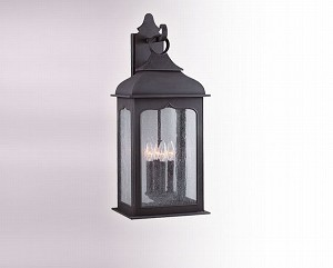 "Henry Street Collection 4-Light 26"" Colonial Iron Outdoor Wall Fixture B2013CI"