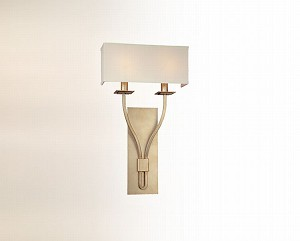 "Palladium Collection 2-Light 12"" Silver Leaf Wall Sconce B2462SL"