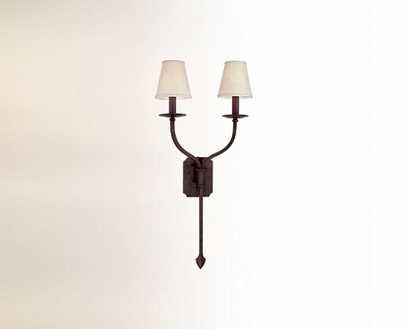 "La Brea Collection 2-Light 14"" French Iron Wall Sconce B2482FI"