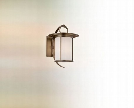 One Light Antique Brass Wall Lantern