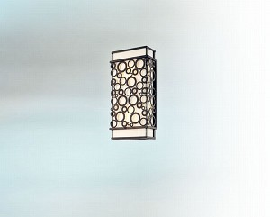 "Aqua Collection 2-Light 14"" French Iron Outdoor Wall Fixture B5011FI"