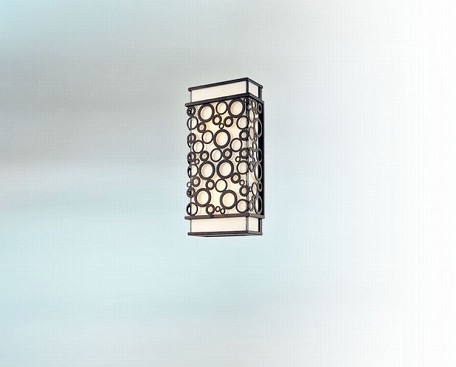 Two Light French Iron Outdoor Wall Light