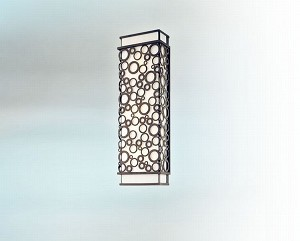 "Aqua Collection 3-Light 21"" French Iron Outdoor Wall Fixture B5013FI"