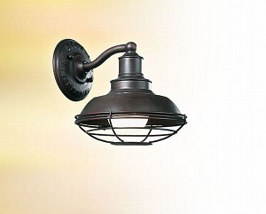 "Circa 1910 Collection 1-Light 8"" Old Rust Outdoor Wall Fixture B9270OR"