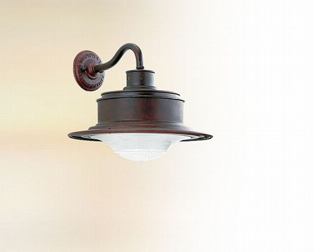 One Light Old Rust Outdoor Wall Light