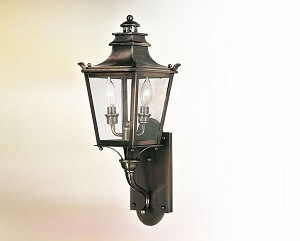 "Dorchester Collection 2-Light 7"" English Bronze Outdoor Wall Fixture B9491EB"