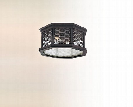 Two Light Old Iron Outdoor Flush Mount