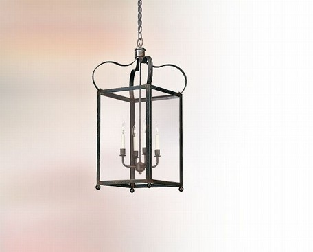 "Bradford Collection 4-Light 20"" Natural Rust Hanging Lantern FCD8922NR"