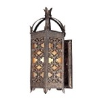 "Gables Collection 3-Light 20"" Charred Gold Outdoor Wall Lantern with Sunset Glass B9902CG"