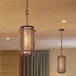 "Copper Mountain Collection 1-Light 16"" Bronze Mica Pendant F3102"