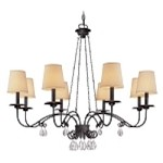 "La Rochelle Collection 8-Light 36"" La Rochelle Bronze Chandelier F2658"