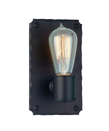 "Jackson Collection 1-Light 8"" Copper Bronze Wall Sconce with Early Electric Light Bulb B2501CB"