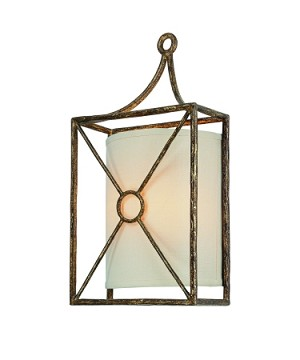 "Maidstone Collection 2-Light 9"" Bronze Leaf Wall Sconce B3012BLF"