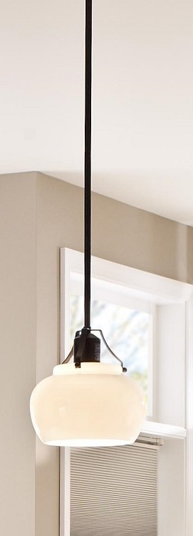 "Urban Renewal Collection 1-Light 8"" Rustic Iron Mini Pendant P1235RI"