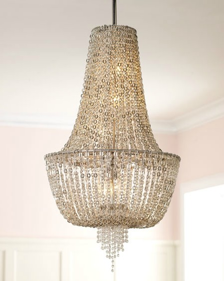 "Vixen Collection 5-Light 34"" Ornate Chandelier with Jewelry Chain and Crystal Beads 141-45"