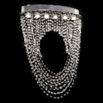"Ring of Crystal Design 6-Light 32"" Chrome Ceiling Mount Chandelier with European or Swarovski Crystals SKU# 11182"