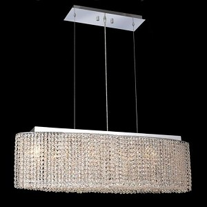 "Moda Collection 6-Light 9"" Chrome Island Light with Light Topaz Yellow Swarovski Strass Crystal 1292D32C-LT/SS"