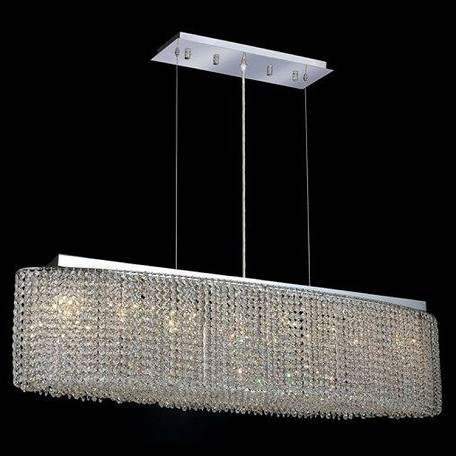 "Moda Collection 8-Light 9"" Chrome Island Light with Clear  Swarovski Strass Crystal 1292D46C-CL/SS"
